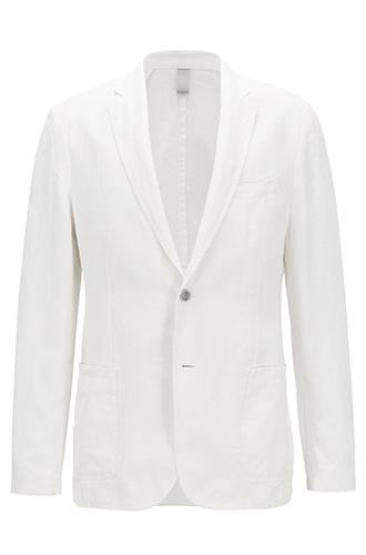 Приталенный льняной пиджак  BOSS