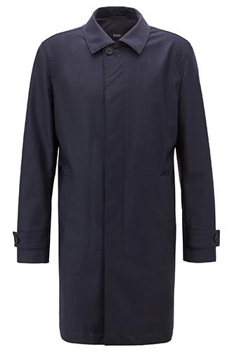Шерстяное пальто BOSS Travel line на перфорированной подкладке